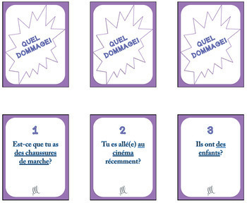 Quel Dommage French Grammar Games - GROWING BUNDLE DEAL