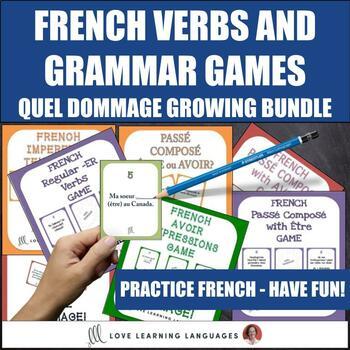 Quel Dommage French Grammar Games - BUNDLE