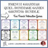 Quel Dommage French Grammar Games - BUNDLE