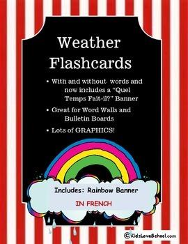 Weather:  Quel Temps Fait-Il? Flashcards