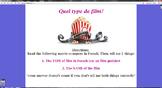 Quel Type de Film? game: Practicing French Cinema/ Film Vocab