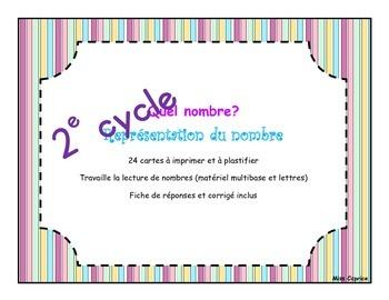 Quel nombre? - Cartes à tâches - 2e cycle