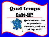 Quel temp fait-il? Quiz (French weather)