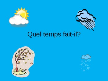 Quel temps fait-il? PowerPoint French Weather Vocabulary PPT