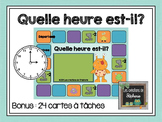 Quelle heure est-il? FRENCH MATH GAME TIME