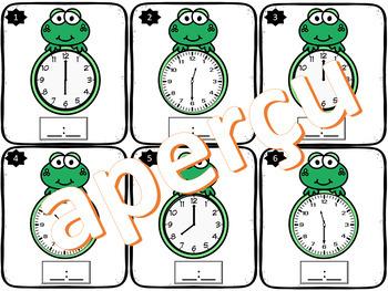 Quelle heure-est-il? 24 cartes à tâches