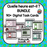 Quelle heure est-il?  French telling time BOOM cards - 8 games!