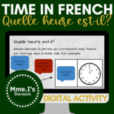 Quelle heure est-il? PART TWO   Telling Time in French   Digital Activity