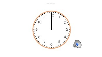 Quelle heure est il? Power Point