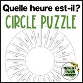 Quelle heure est-il? Casse-tête French telling time puzzle