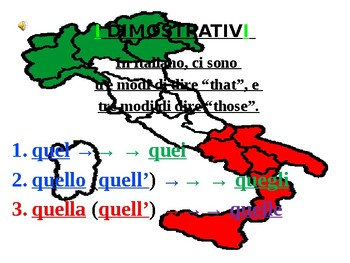 "Italian Made Simple: The Demonstrative ""Quello"""