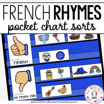 Quels mots riment? - FRENCH Rhyme Pocket Chart Sorts