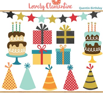 Quentin birthday clip art images, cake clip art, party clip art