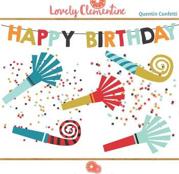 Quentin birthday clip art images, confetti clip art, party clip art