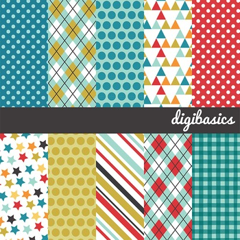 Quentin birthday papers 12x12, birthday digital papers