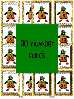 Fall Activities With Math Number Cards to 30
