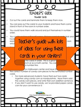 Pumpkin Math Number Cards to 30