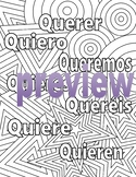 Querer - Spanish Adult Coloring Page