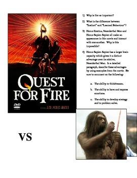 Quest For Fire:  Neanderthal Man vs Homo Sapien Sapien Comparison Chart