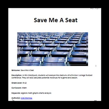 Webquest - Quest For Knowledge - Save Me A Seat - Ticket Analysis Using Averages