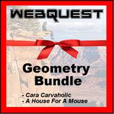 Webquests - Quest For Knowledge - Geometry Bundle