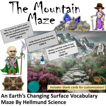 Quest- The Mountain Maze, An Earth's Changing Surface Random-Encounter Maze