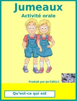 Qu'est-ce qui est arrivé (What happened in French) Jumeaux Speaking activity