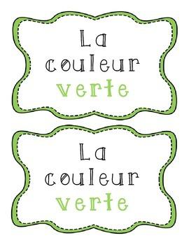 La couleur verte - French emergent reader