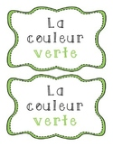 La couleur verte - French emergent reader
