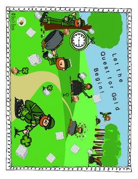 Quest for Gold: A Math Quest - St. Patrick's Day Activity - No Prep!