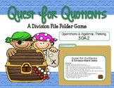 Quest for Quotients: A Division File Folder Game 3.OA.2