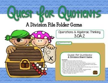Quest for Quotients: A Division File Folder Game 3.OA.2