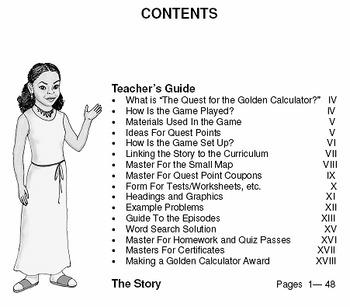 Quest for the Golden Calculator Math Adventure