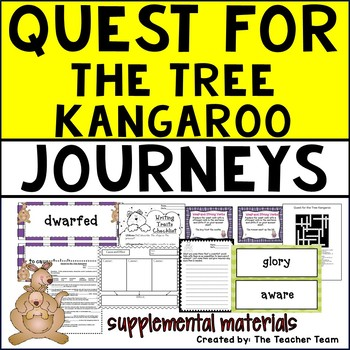 Quest for the Tree Kangaroo   Journeys 5th Grade Unit 2 Lesson 6   Printables