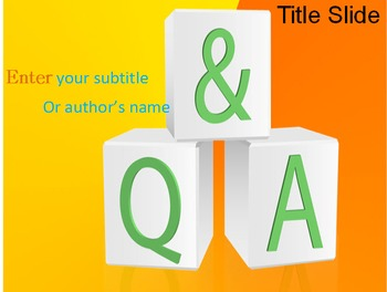Question And Answer PPT Template
