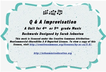 Question & Answer Improvisation Unit- 5th Grade