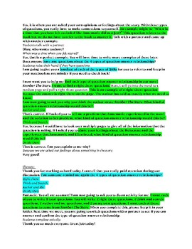 Question-Answer Relationship Formal Lesson Plan