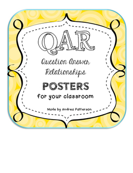 Question Answer Relationship Posters (QAR)