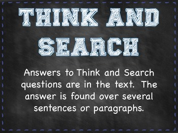 Question Answer Relationship (QAR) Posters