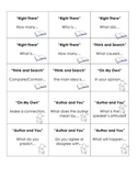 Question Answer Relationship during-reading cards