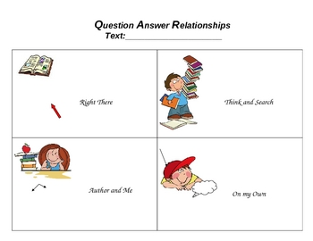 Question Answer Relationships (QAR) Template by Indepedent | TpT