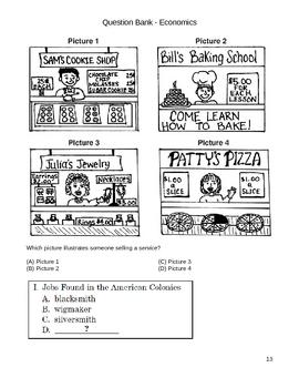 Elementary Social Studies Question Bank - Economics