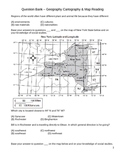 Middle School Social Studies Question Bank - Geography/Maps