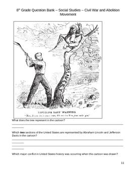 Middle School Social Studies Question Bank - Civil War