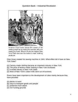 Middle School Social Studies Question Bank -  Industrial Revolution