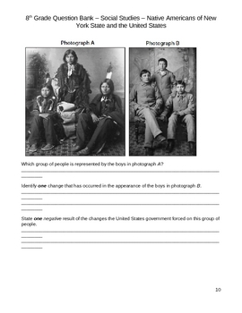 Middle School Social Studies Question Bank - Native Americans
