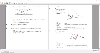 Question Bank for Geometry, Parallel Lines, Planes, Jurgensen Chapter 3