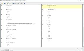 Question Bank for Multiplying/Dividing Integers, Evaluting Mult/Div of Integers