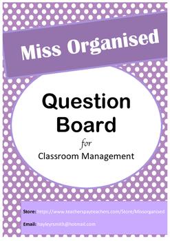 Question Board {EDITABLE}
