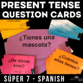 Question Cards - High Frequency Verbs (present tense Spanish)
